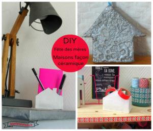 DIY – fête des mères #1 : 2 projets de maisons façon céramique