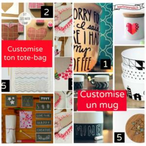 DIY – fête des mères #2 : Customisation (mug et tote)