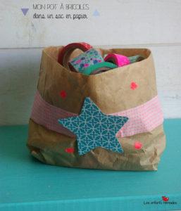 DIY express : sac en papier = corbeille à bricoles !