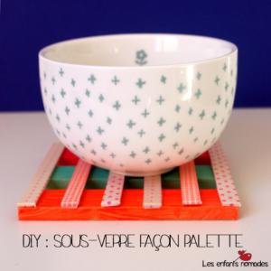 DIY : Sous-verre façon mini-palette
