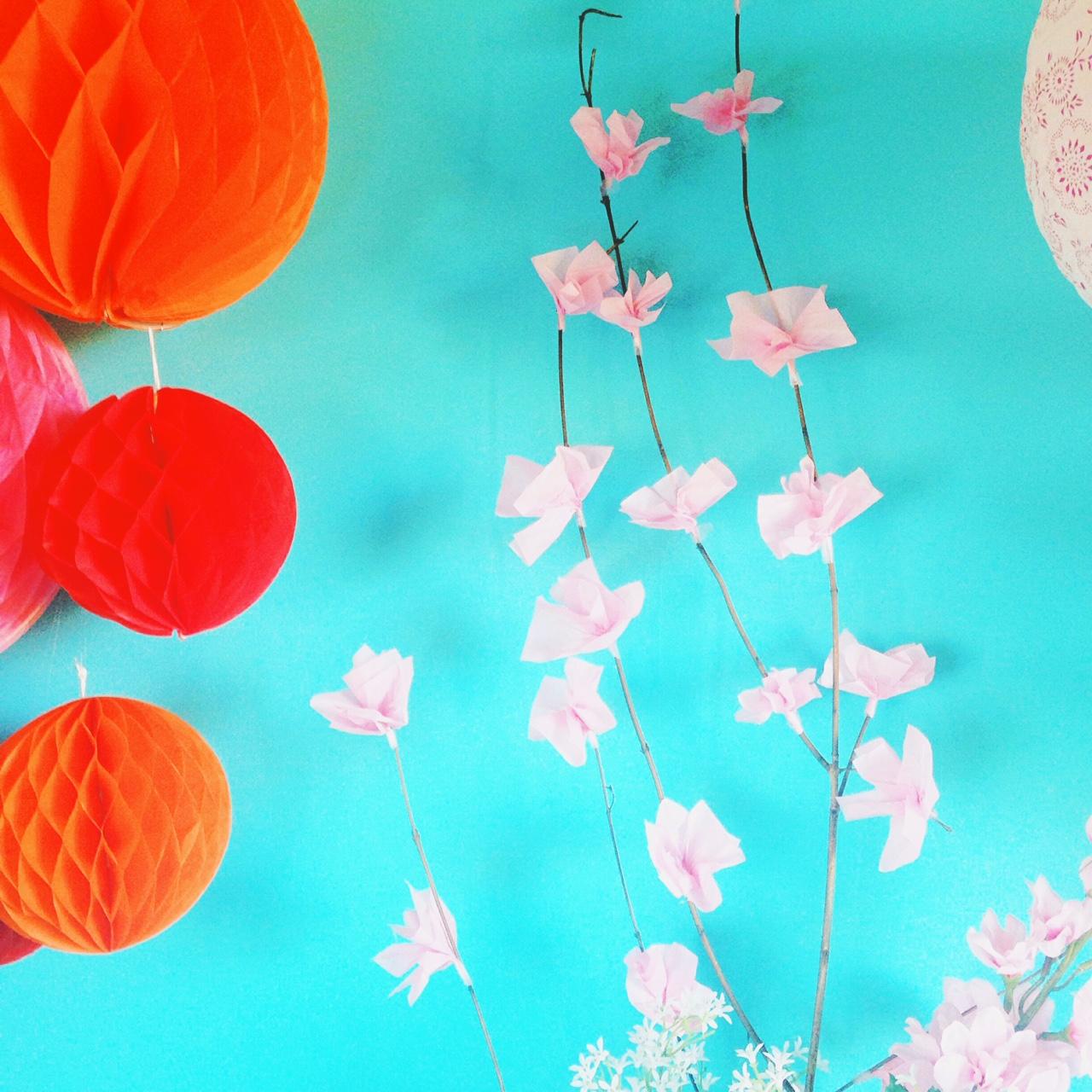 DIY fleur de cerisier en papier sakura