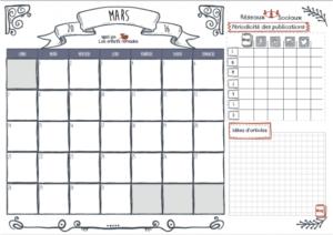 [planner] Calendrier de mars