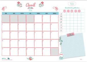 [Planner] planning d'avril (gratuit)