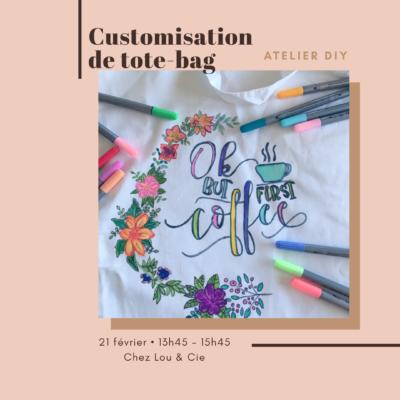 21 février : [DIY Accessoires] Customisation d'un shopping bag