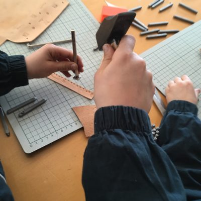 Porte-carte et Bracelet en cuir