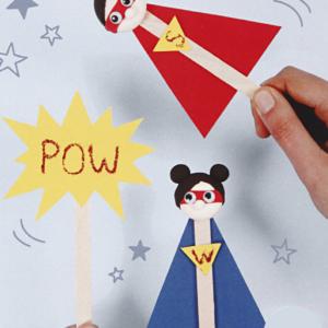B – Pochette créative : les super héros