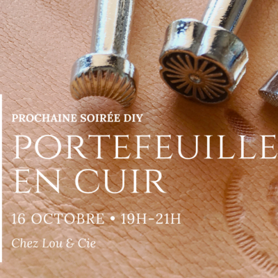 16 octobre : Portefeuille en cuir