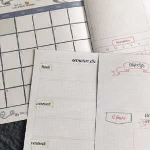 Planner : Pack – Calendriers & semainiers – Octobre à Décembre 2020