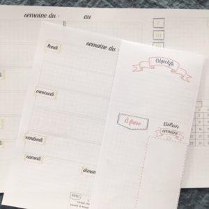 Planner : Semainiers de Octobre à Décembre 2020