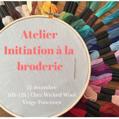 17 novembre : atelier adultes – Initiation à la Broderie