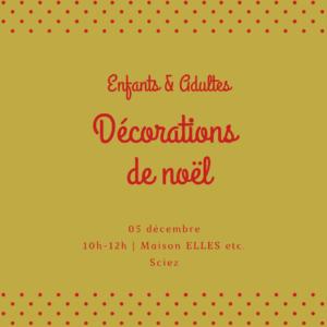 05 décembre : Atelier de Noël