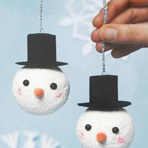 B – Deux Boules bonhommes de neige