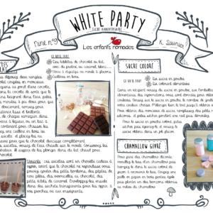 Fiche Anniversaire pour réaliser une White party