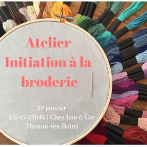 29 janvier : Initiation à la Broderie
