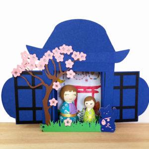 15 mai : Fabrication d'une maison Japonaise et ses kokeshi