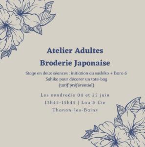 A – 1 – Broderie japonaise en deux séances (Thonon)